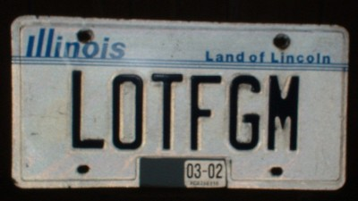 LOTFGM license plate